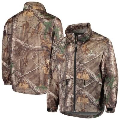 """メンズ ジャケット """"New Orleans Saints"""" Sportsman Waterproof Packable Full-Zip Jacket - Realtree Camo"""