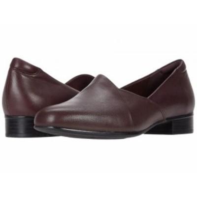Clarks クラークス レディース 女性用 シューズ 靴 ローファー ボートシューズ Juliet Palm Burgundy Leather【送料無料】