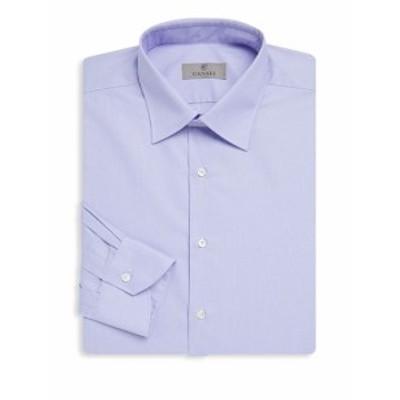 カナリ メンズ ドレスシャツ ワイシャツ Printed Cotton Dress Shirt