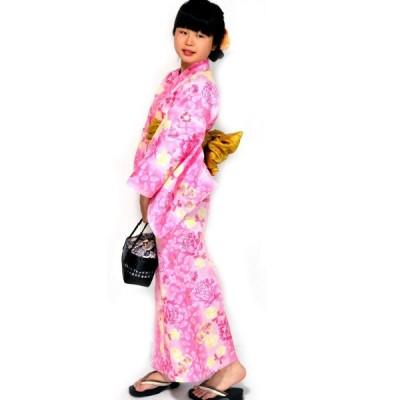 HESAKAヘサカ ゆかた 女性 仕立上り 浴衣 3点 セット 10タイプ/12(パステルピンク・花リボン)