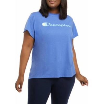 チャンピオン レディース Tシャツ トップス Plus Size Classic Script Graphic T-Shirt DEEP FORTE