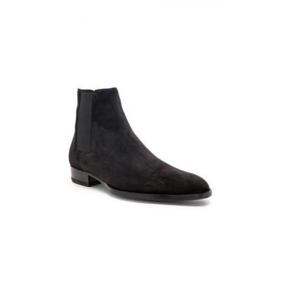 イヴ サンローラン Saint Laurent メンズ ブーツ チェルシーブーツ シューズ・靴 suede wyatt 30 chelsea boots Black