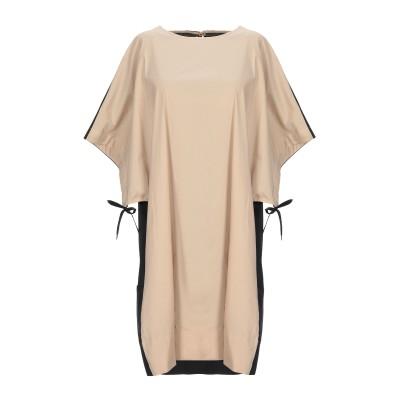 リビアナ コンティ LIVIANA CONTI ミニワンピース&ドレス サンド XS コットン 68% / ナイロン 28% / ポリウレタン 4%