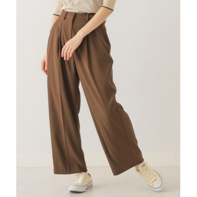 BeAMS DOT / 【WEB限定】BeAMS DOT / センタープレス タックパンツ WOMEN パンツ > スラックス