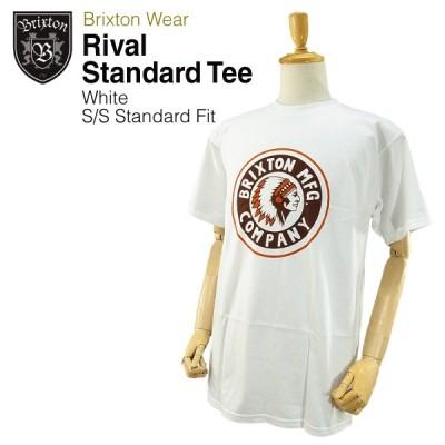 ブリクストン ライバル S/S スタンダード フィット Tシャツ ホワイト ラスト:Mサイズ (Brixton RIVAL S/S STANDARD FIT TEE)