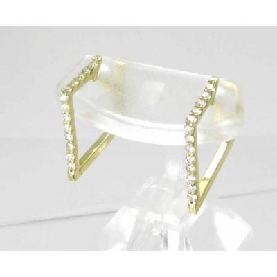 ダイヤモンド ピアス K18YG イエローゴールド 中折れ式 ひしがた ひし形 菱型 ダイヤピアス 0.34ct