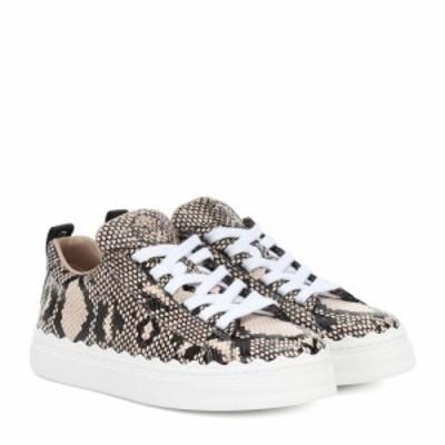 クロエ Chloe レディース スニーカー シューズ・靴 lauren leather sneakers Eternal Grey