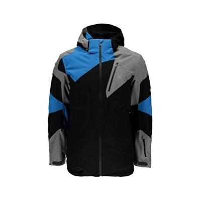 Spyder Men's Leader Jacket Black/Polar Herringbone/French Blue X-Large【海外平行輸入品】