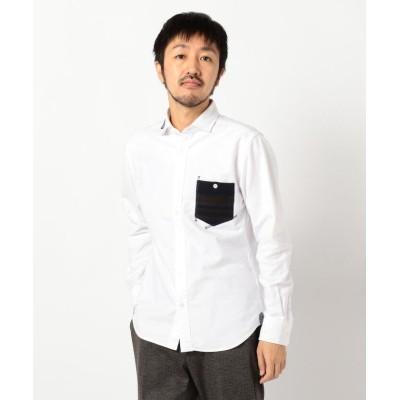 【フレディアンドグロスター】 オックスハンドステッチ シャツ メンズ オフホワイト L FREDY&GLOSTER