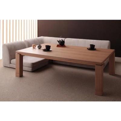 天然木アッシュ材 和モダンデザインこたつテーブル CALORE カローレ 長方形 135×85cm ナチュラルアッシュ
