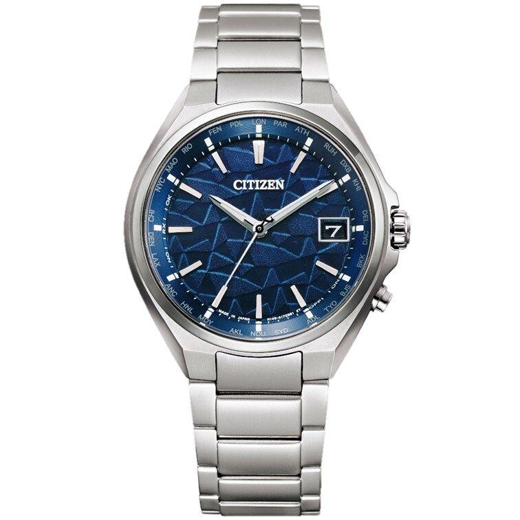 CITIZEN 星辰 CB1120-68L 日本‧藍 限量光動能電波腕錶 藍 銀 38mm