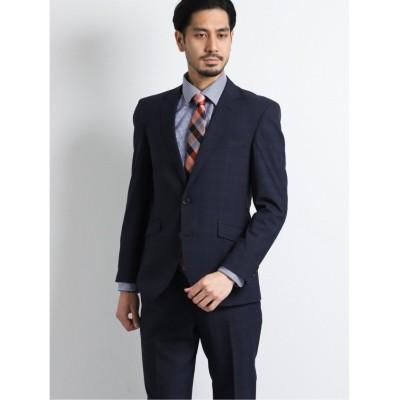 【タカキュー】 ヘイク/HEIQ レギュラーフィット2釦2ピーススーツ 青オーバーペーン メンズ ブルー AB6 TAKA-Q
