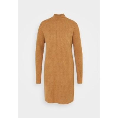 オンリー トール レディース ワンピース トップス ONLMEKIA DRESS - Jumper dress - brownie melange brownie melange