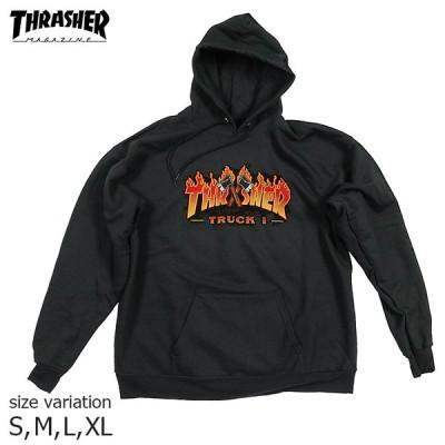 THRASHER TRUCK 1 HOOD BLACK Mサイズ Lサイズ パーカー スラッシャー フーディー プルオーバー スケボー SK8 ストリート フード