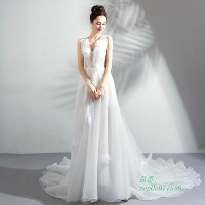 結婚式 Aラインドレス 二次会 大きいサイズ 花嫁 安い 挙式 ウェティグドレス ウエディング ロングドレス 前撮り パーティードレス 披露宴 おしゃれ 発表会