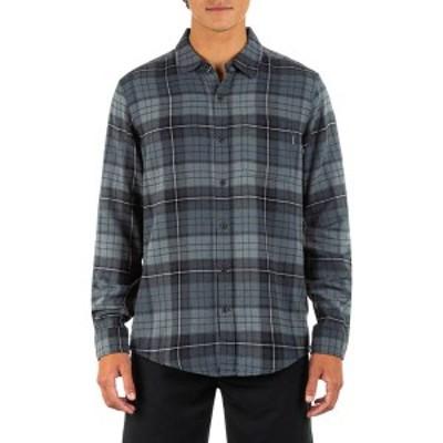 ハーレー メンズ シャツ トップス Hurley Men's Portland Flannel Long Sleeve Shirt Dk Smoke Grey