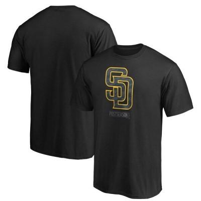 ダルビッシュ有 所属 パドレス Tシャツ 半袖 メンズ カットソー ブラック MLB 2020ポストシーズン プレーオフ MLB2020PS