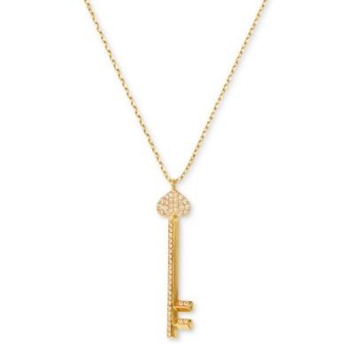 ケイトスペード ネックレス Kate Spade Gold-Tone Pave Key Pendant Necklace (Gold) パヴェ キー ペンダント ネックレス (ゴールド)