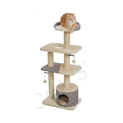 MidWest Homes for Pets Cat Tree | Tower Cat Furniture, 5-Tier Cat Tree w/Sisal Wrapped Support Scratching Posts & High Cat Look-Out Perch, M