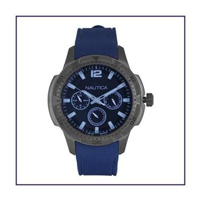 Nautica Men's SAN Diego Stainless Steel Quartz Sport Watch with Silicone Strap, Black, 22 (Model: NAPSDG004)【並行輸入品】