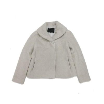 【中古】アンタイトル UNTITLED ハーフ コート ジャケット 起毛 ブルゾン 0 グレー/4@ レディース 【ベクトル 古着】