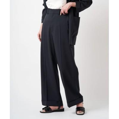 【+0】テックリネン裾ダブルパンツ/セットアップ可