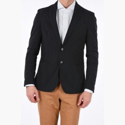 CORNELIANI/コルネリアーニ ブレザー Black メンズ 春夏2019 CC COLLECTION Linen and cotton single breasted blazer dk