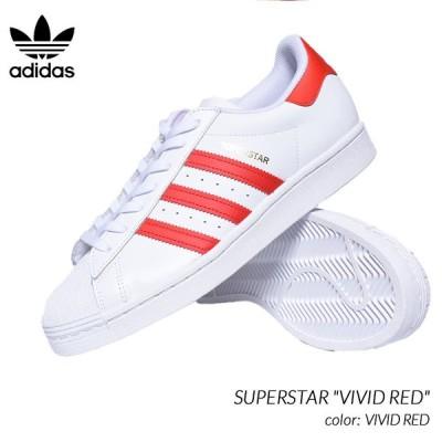 """adidas SUPERSTAR """"VIVID RED"""" アディダス スーパースター スニーカー ( 白 オホワイト 赤 レッド メンズ H68094 )"""