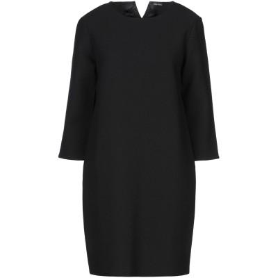CHARLOTT ミニワンピース&ドレス ブラック S ウール 100% / レーヨン ミニワンピース&ドレス