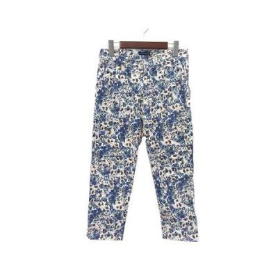 【中古】ジャーナルスタンダード JOURNAL STANDARD パンツ 38 M 白 ホワイト 花柄 テーパード レディース 【ベクトル 古着】