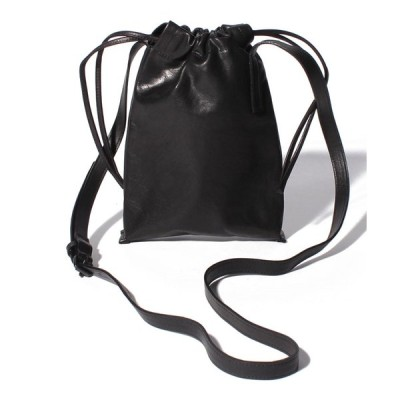 【パトリックステファン】Leather cell phone bag 'drawstring'
