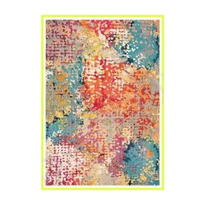 "Safavieh Madison Collection MAD429C Abstract Distressed Area Rug, 2' 2"" x 4', Ivory/Multi 並行輸入品"