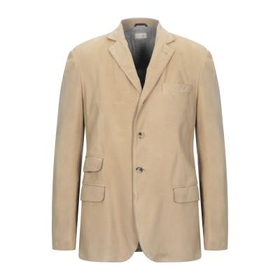 ブルネロ クチネリ BRUNELLO CUCINELLI テーラードジャケット サンド M 革 100% テーラードジャケット
