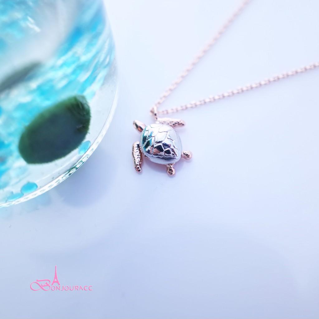 韓國配色海龜造型短鏈 短項鍊 項鍊【Bonjouracc】