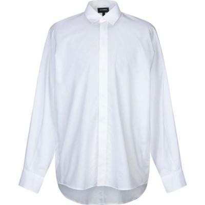 レゾム LES HOMMES メンズ シャツ トップス solid color shirt White