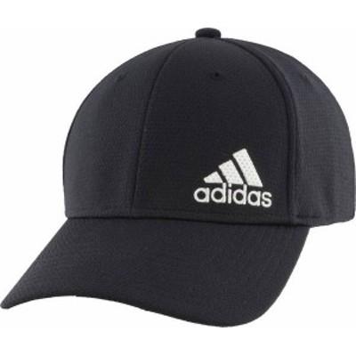 アディダス メンズ 帽子 アクセサリー adidas Men's Badge of Sports Relaxed Big Trefoil Baseball Hat Black/White