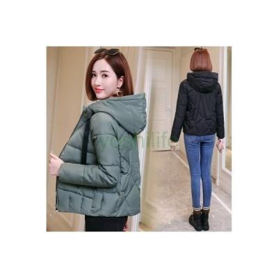 ダウンジャケット レディース ダウンコート 暖かい ショート丈 軽量 フード付き 冬アウター コート 無地 防寒 スリム 着やせ おしゃれ 着心地よ