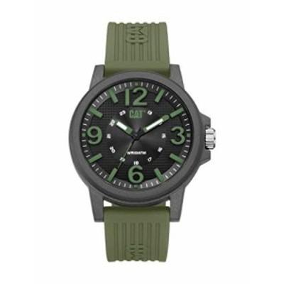 腕時計 キャタピラー メンズ CAT Groovy Military Green Men Watch, 44.5 mm case, Polycarbonate case,