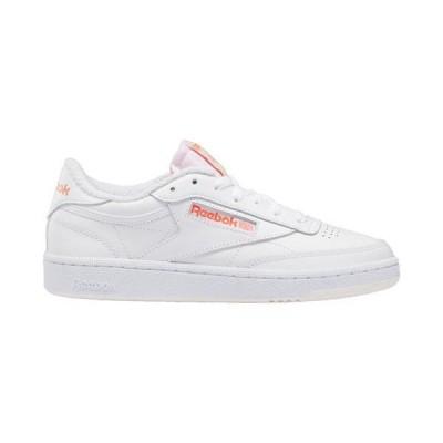 (取寄)リーボック レディース シューズ クラブ C 85 Reebok Women's Shoes Club C 85 White Pink Orange | Retro Sport