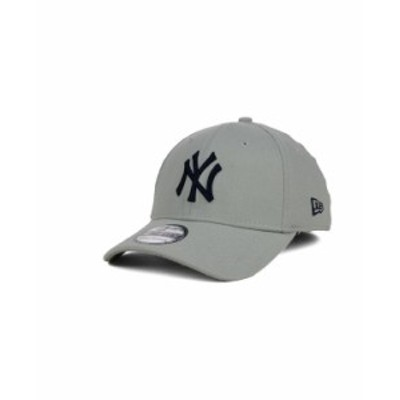 ニューエラ メンズ 帽子 アクセサリー New York Yankees Core Classic 39THIRTY Cap Gray