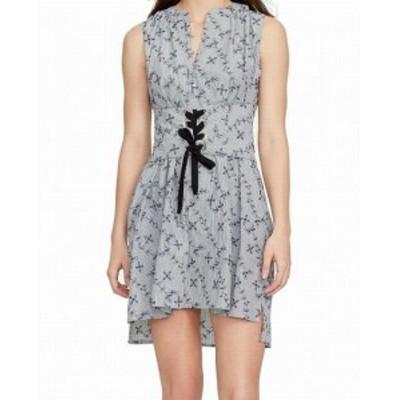 William Rast ウィリアムラスト ファッション ドレス William Rast NEW Blue Womens Medium M Floral Lace Up Sheath Dress