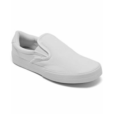 アディダス レディース スニーカー シューズ Women's Kurin Slip-On Casual Sneakers from Finish Line Footwear White Pink