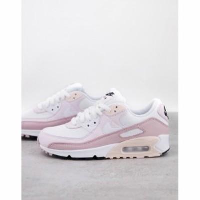 ナイキ Nike レディース スニーカー エアマックス 90 シューズ・靴 Air Max 90 trainers in soft pink and white