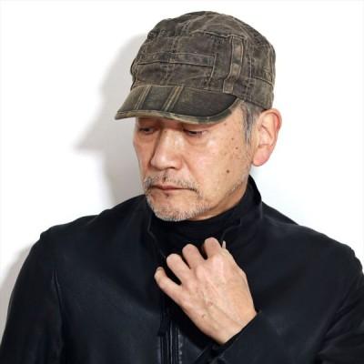 ワークキャップ メンズ 帽子 ステットソン ビンテージ調 加工 カモ柄 迷彩 STETSON キャップ 茶 ブラウン 紳士 ワーク 帽子  ウォッシュドコットン