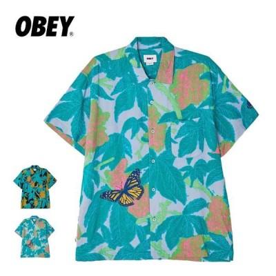 オベイ 半袖 シャツ メンズ OBEY 181210326 BUDS WOVEN ウーブンシャツ  obeyclothing [210615]