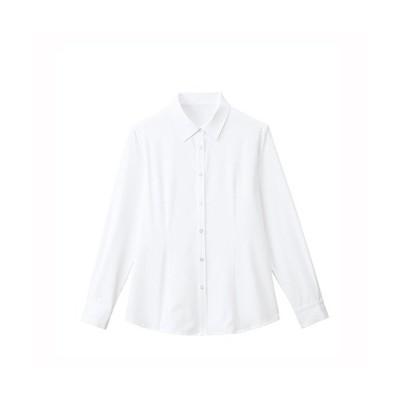 カンセン 長袖ブラウス FB75577-1 11 / ホワイト(白色) / オフィス用品 作業用品 制服 / 41907