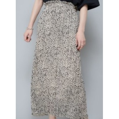 ハイウェストスカート フレアスカート ミモレ丈 大きいサイズ ゆったり 春夏 ヒョウ柄 レオパード柄 黒 白 大人女子 10代 20代 30代 お出