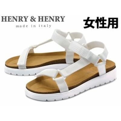 he032 訳あり品 ヘンリーヘンリー アマンダクロード スポーツサンダル 23.5cm 37 ビアンコ 女性用 HENRY&HENRY AMANDA