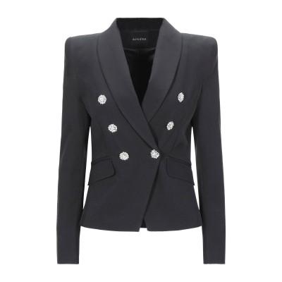 ACTUALEE テーラードジャケット ブラック 40 ポリエステル 89% / ポリウレタン 11% テーラードジャケット