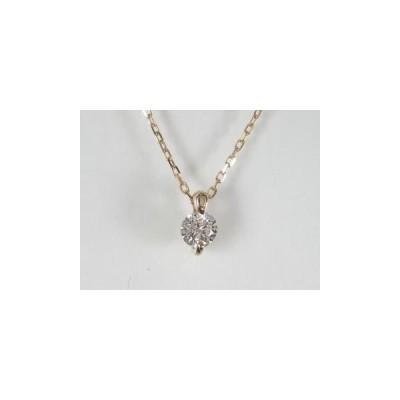 K18PG ピンクゴールド ダイヤモンド ペンダント ネックレス